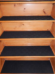 13 STEP 9\'\' x 36\'\' 100% Rubber Outdoor/ Indoor Stair Treads Non Slip ...