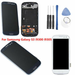 Ecran-Tactile-Touch-Screen-LCD-Display-Cadre-pour-Samsung-Galaxy-S3-i9300-i9305