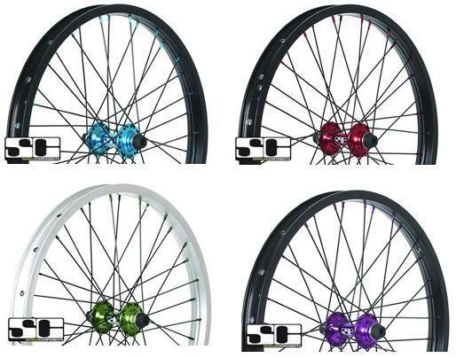 NEW SAVAGE BMX BIKE 20   ALLOY FRONT WHEELS. CHOICE OF 4 COLOURS. SVWH01.