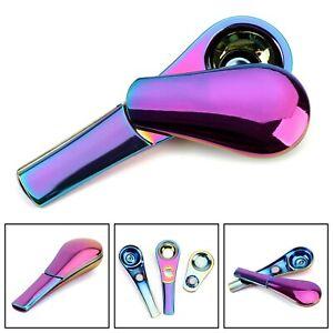 Accessori per tabacco in metallo magnetico con cucchiaio da fumo arcobaleno A11