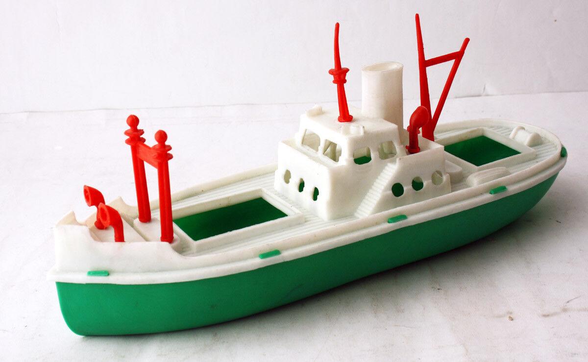 Nave muy rara Vintage años 70 Plástico Barco hecho en Grecia griego 30cm nuevo