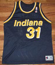 REGGIE MILLER Vtg 1990's Indiana pacers CHAMPION Basketball Jersey Sz 48