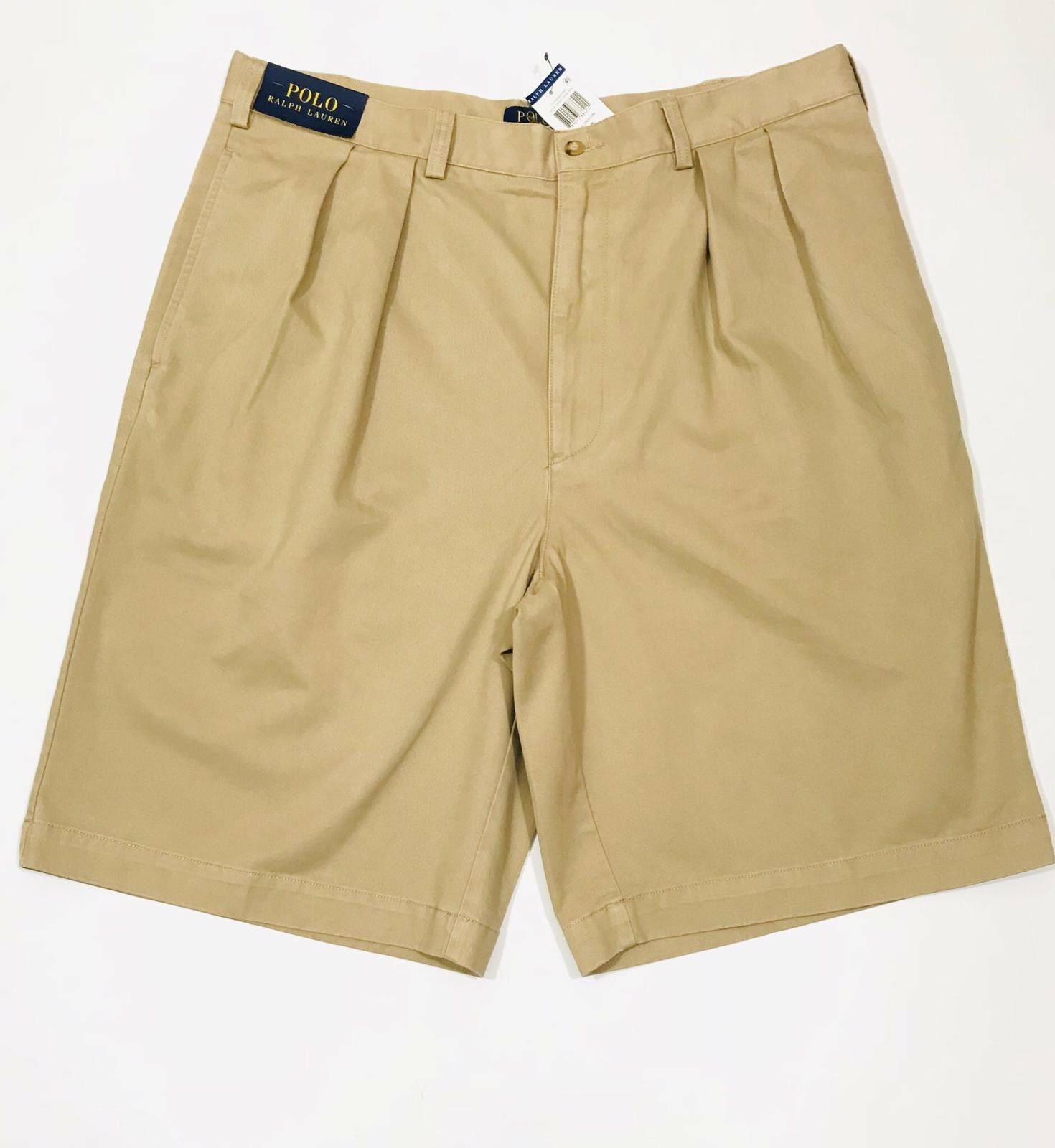 Ralph Lauren Shorts Classic Fit Pleated (Khaki)                         RRP