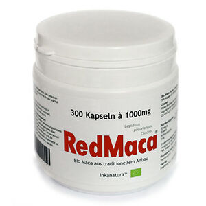 ROTE MACA Kapseln  RED MACA®  300 Kapseln à 1000mg Peru INKANATURA™ purpurrote