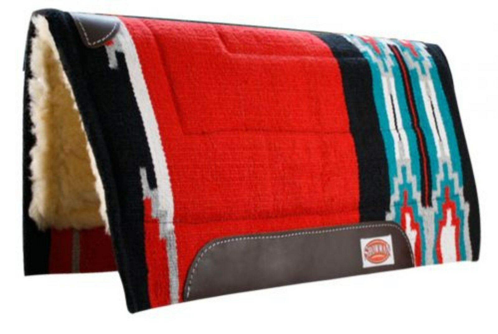 Showman rosso Dimensione 32x34 Cutter Style Pad with Kodel Fleece and Wear Leathers