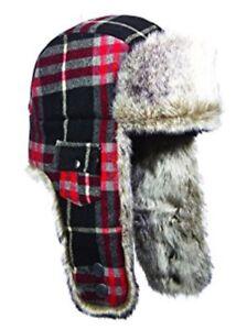 Woolrich M wool blend Medium 57cm WINTER TRAPPER AVIATOR CAP HAT ... da5becf66441