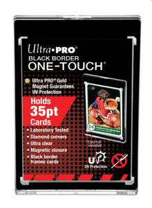 Ultra-Pro-BLACK-BORDER-One-Touch-Magnetic-Trading-Card-Holder-35pt-Standard-Size