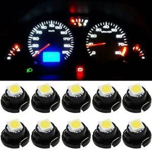 4 Pcs LED Indicator Pilot Dash Light,12V 8mm Aluminum Pilot Lights for Speedometer Odometer Tachometer Color : White