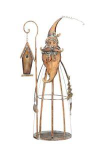 nikolaus weihnachtsmann metall zum dekorieren gro advent. Black Bedroom Furniture Sets. Home Design Ideas