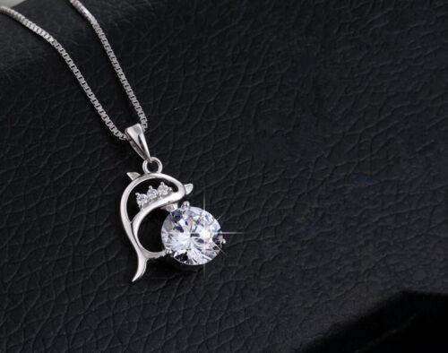 Dolphin Colgante Collar Cadena De Plata Esterlina 925 para Mujeres Niñas Joyas Regalo