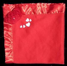 "Dan Dee Red Bear Hearts Baby Blanket Security Lovey 26"" x 27"""