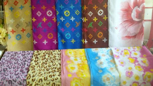 Joblot 20 pcs Mixed Design chiffon scarves scarf wholesale 50x160 cm Lot 7