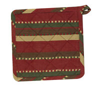 Pot Holder Set Of 2 - Caribou By Park Designs - Christmas Holiday