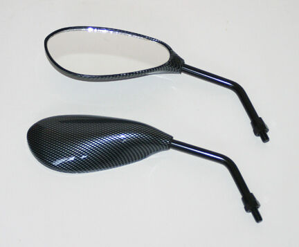 Honda Kawasaki Suzuki Carbon Fiber Look Mirrors mp103
