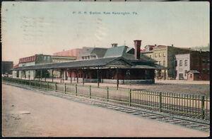 NEW-KENSINGTON-PA-PRR-Station-Pennsylvania-Railroad-Depot-Station-Vtg-Postcard