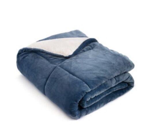 Modern Southern Home Velvet King Comforter Modern Cozy Bedding Blue Machine Wash