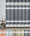 "New England Fabric Shower Curtain Diamond Weave Textured Stripes 70""x72"""