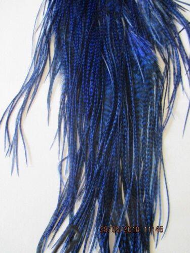 metz saddle grizzle dark blue saddle grade 2  flytying hair feathers