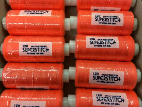 Superstitch Five Hundred Yards Sewing Machine Polyester Thread NEW COLOURS