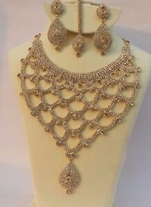 indian Bollywood Style Wedding Bridal Necklace Fashion Jewelry Set