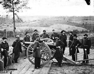 6 Sizes! Union General William Tecumseh Sherman /& Staff New Civil War Photo