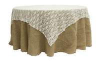 30 Lace Table Overlays 72 X 72 Square Tablecloths 3 Colors 100% Poly Usa Made