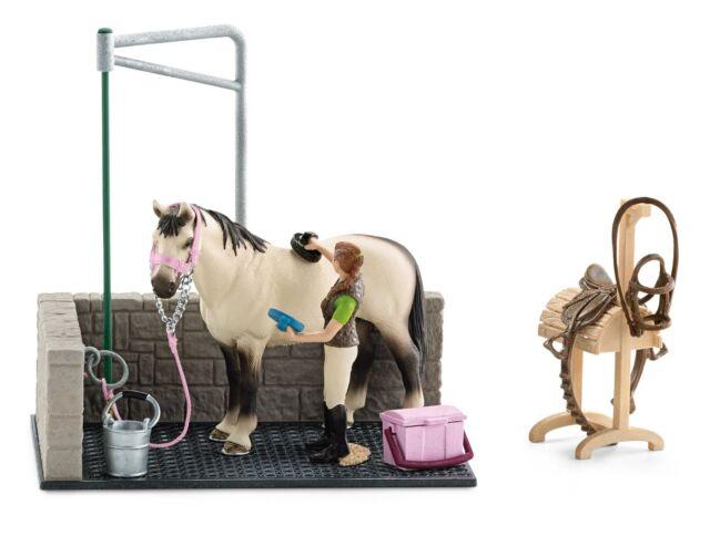 scarpe temperamento negozio del Regno Unito fornire un'ampia selezione di Zona lavaggio per Cavalli Schleich Accessori