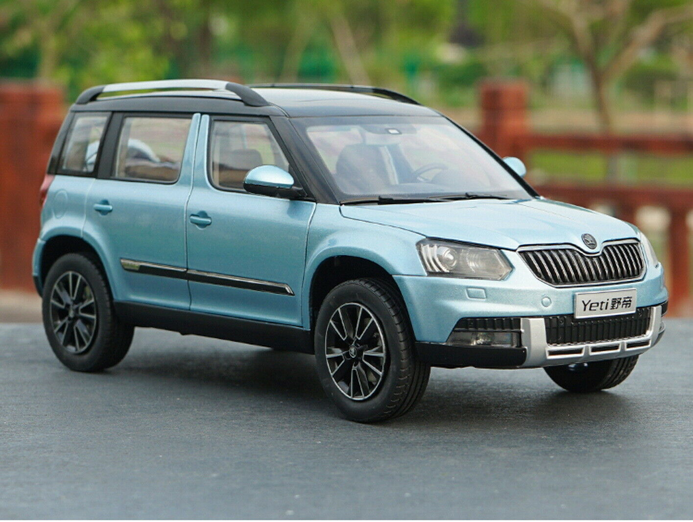 1 18 SCALA VW Volkswagen Skoda Yeti Suv Blu Diecast Auto Modello Collection