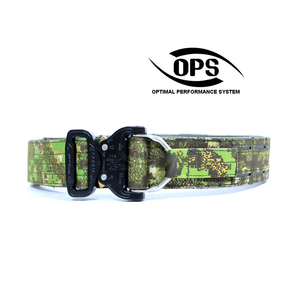O.P.S D-RING COBRA WARRIOR BELT IN PENCOTT GREENZONE, MD, LG,  XLG  authentic quality