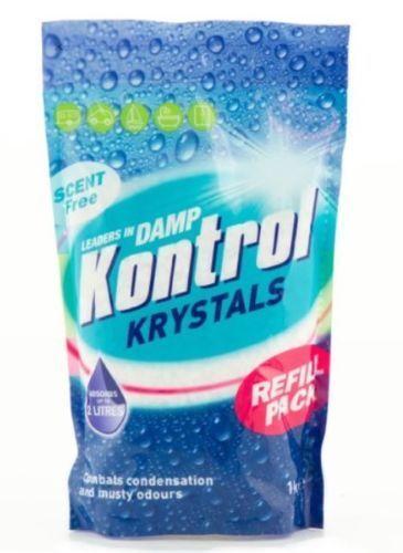 Moisture Crystals 1KG Refill Pack Absorbs Moisture Kontrol Damp Kontrol