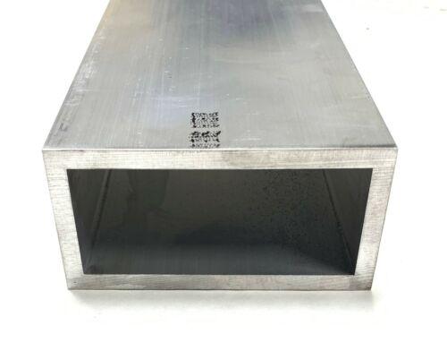 "6063 Aluminum Rectangular Tube 2/"" X 4/"" X 1//4/"" Wall 90/"" Piece"