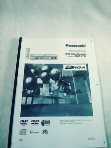 Panasonic dmr-t3040 dvd recorder owners instruction manual.