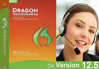 Dragon Naturally Speaking 12.5 Home Edition 12 Fast Shipping