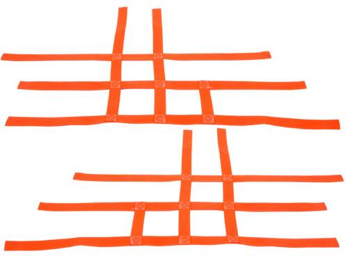 Honda TRX 400EX 450R TRX400EX TRX450R   Nerf Bar Nets   Fits Alba Tusk Orange J
