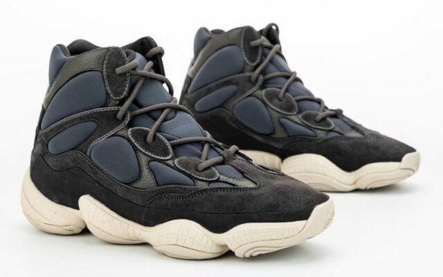 Adidas Yeezy 500 High Shoes Slate FW4968 Men's Size 8.5 NEW