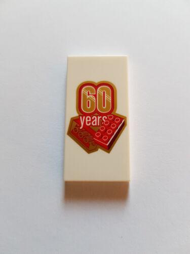 LEGO® 1 x 87079 pb465 Fliese 2 x 4 bedruckt 60 Jahre 6218943 #BC 40290
