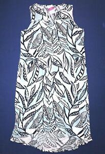 FRESH-PRODUCE-XL-White-PALM-LEAVES-ADA-Sleeveless-Beach-Dress-89-00-NWT-New-XL