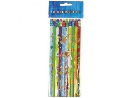 10 Bleistifte mit Radiergummi Schule Schulanfang Schultüte Kindergeburtstag