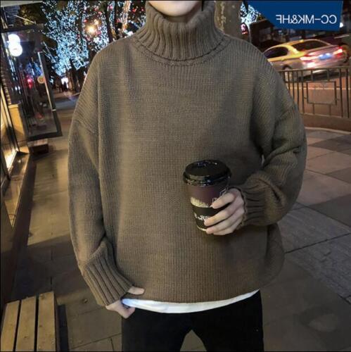 Cuello hombre alto Suéter cuello de para Blusa T Top Retro Abrigos sueltos Blazer alto Casual nAxwqHXBw