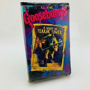 Goosebumps-A-Night-in-Terror-Tower-VHS-Tape-with-Clamshell-Case