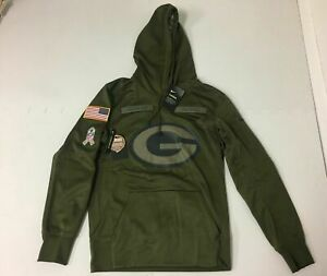 the latest 05b14 36ff7 Nike Green Bay Packers 2018 Salute to Service Hoodie 944236 395 Small