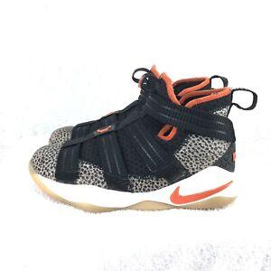 be3566b091b A2 Nike Lebron Soldier XI SFG (GS) Safari Black Team Orange AJ5123 ...