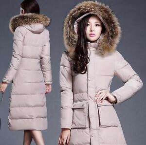 Veste de long col d'oie femmes à en duvet mode manteau fourrure pour la à 66qHArZ