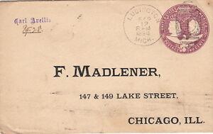 United-State-Cover-Ludington-Entier-Postal-1894