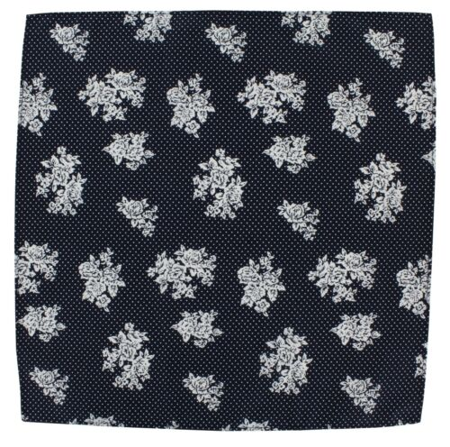 Michelsons of London Floral With Spot Cotton Pocket Square