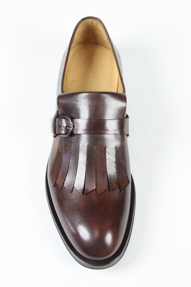Sutor Mantellassi Shoes: 9.5 UK / 10.5 10.5 /   Brown basket weave kilted monk strap fb15e6