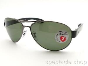 e1dd37ae7ea Ray Ban 3509 004 9A Gunmetal Polarized New 100% Authentic Made in ...