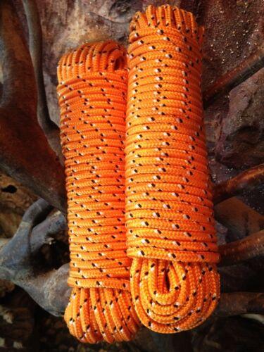 Orange Mehrzweckseil Bootstau Nr.31 Polypropylen Leine10 mm,30m,Segeltauwerk