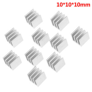 10pcs-Silver-10x10x10mm-Aluminum-Heatsink-Electronic-Chip-Cooling-Radiator-T-Gw