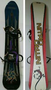 Details about Vintage 162cm NITRO FUSION Snowboard w/ Nitro Bindings